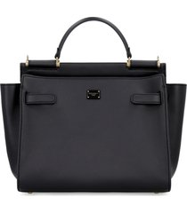 dolce & gabbana sicily soft leather tote