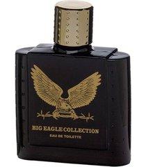 big eagle collection black real time - perfume masculino - eau de toilette 100ml