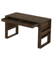 mesa para escritório me4144 nogal  - tecno mobili