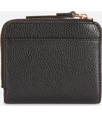 marc jacobs women's mini compact zip wallet - black