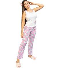 pijama pantalón dama color violeta womanpotsherd ref: pant