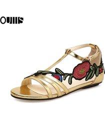 sandalias bordadas tallas grandes mujer