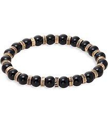 black obsidian beaded bracelet