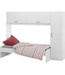 guarda-roupa c/modulo aã©reo e cama branco 2650.697 multimã³veis - branco - dafiti