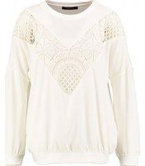 supertrash oversized off white blouse