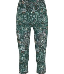 leggings a pinocchietto in cotone con cinta comoda (verde) - bpc bonprix collection