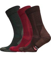 classic merino wool hiking socks 3 pack underwear socks regular socks multi/mönstrad danish endurance