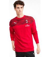 ac milan casuals sweater voor heren, zwart/rood, maat xs | puma
