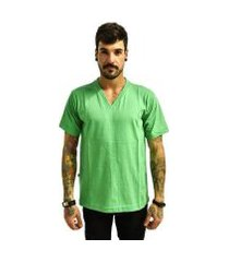 camiseta rich básica lisa gola v masculina