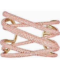 bracciale rigido tigris, grande, rosa, placcato color oro