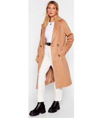 womens don't rain on my parade double breasted coat - camel