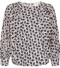 sabrin blouse lange mouwen blauw munthe