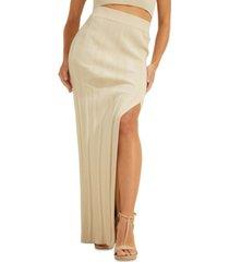 guess high slit amalia maxi skirt
