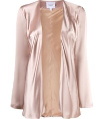 galvan long sleeve evening jacket - neutrals