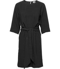 angela dress jurk knielengte zwart twist & tango