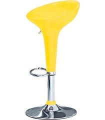 banqueta em plástico com pistão a gás 68cm amarela