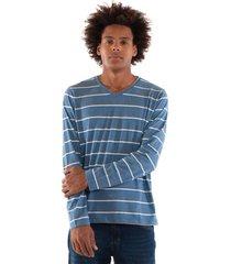 camiseta konciny listrada decote v azul