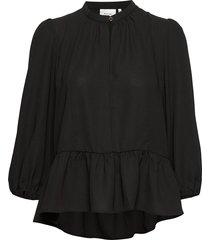 ceniagz blouse so20 blouse lange mouwen zwart gestuz