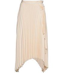 long maxi tie skirt knälång kjol creme calvin klein