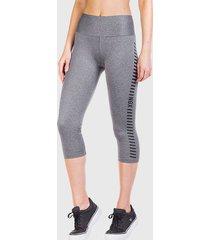 legging ngx mid leisure gris - calce ajustado