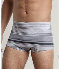 sunga masculina tradicional listrada cinza