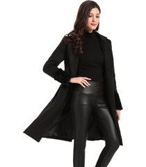 abrigo manga peluda negro nicopoly