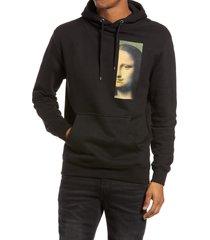 men's altru mona lisa men's hooded sweatshirt, size medium - black