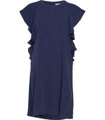 fabia dress jurk knielengte blauw minus