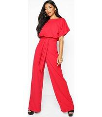 jumpsuit met dubbele lagen, rood