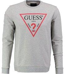 guess zachte grijze stretch sweater