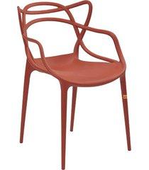cadeira allegra laranja telha rivatti móveis
