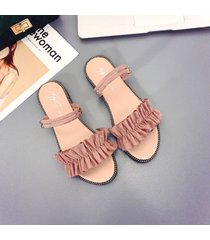 zapatillas casuales de verano para las mujeres sandalias planas zapatillas