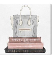 "oliver gal my fancy purse and books canvas art - 12"" x 12"" x 1.5"""