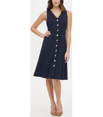 tommy hilfiger button-front a-line dress