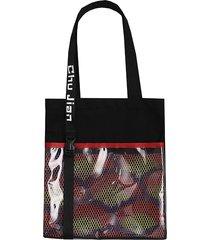 tela trasparente shopping borsa spalla borsa borsa per le donne