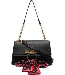 love moschino bow-detail shoulder bag - black