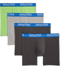 nautica men's 4-pk. performance boxer briefs