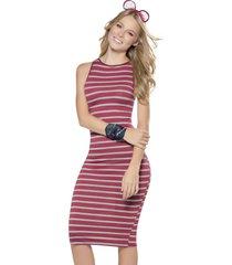 vestido largo vino rayas atypical