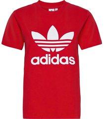 adicolor classics trefoil t-shirt w t-shirts & tops short-sleeved röd adidas originals
