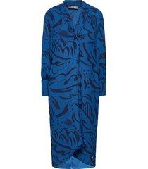 callie tory dress jurk knielengte blauw mos mosh