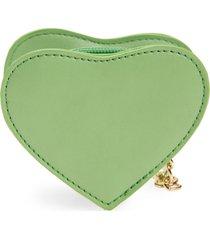 women's bp. heart zip pouch - green