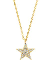 14k gold vermeil sterling silver & crystal layered pendant necklace