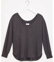 loft lou & grey signaturesoft plush scoop neck top