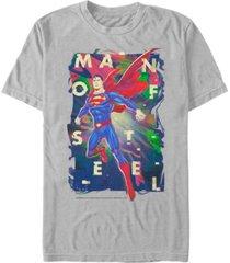 fifth sun dc men's superman man of steel poster short sleeve t-shirt