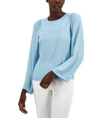 alfani ruched sleeve blouse, created for macy's