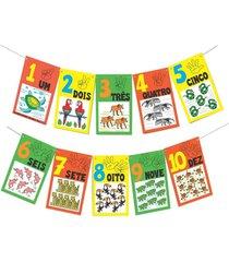 jogo educativo - varal de numerais e quantidades fauna brasileira - carlu - multicolorido/roxo - dafiti