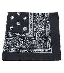 bauarte - lenço bandana de tecido bauarte - lenço bandana de tecido preto