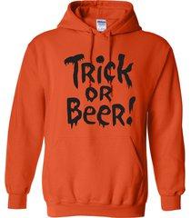 trick or beer halloween party college drinking funny black print unisex hoodie