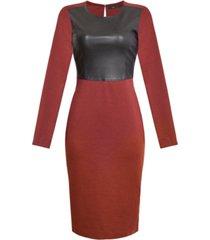 bcbgmaxazria mixed-media bodycon dress
