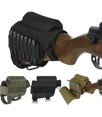 tactical rifle cheek riser pad ammo holder carrier pouch round cartridge bag